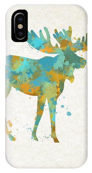 Moose Watercolor Art IPhone Case