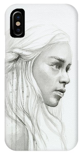Dragon iPhone Case - Daenerys Mother Of Dragons by Olga Shvartsur