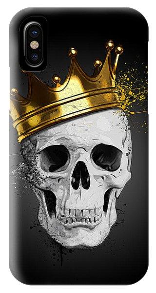 Death iPhone Case - Royal Skull by Nicklas Gustafsson