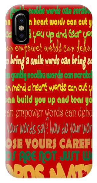 iPhone Case - Words Matter by Pharris Art