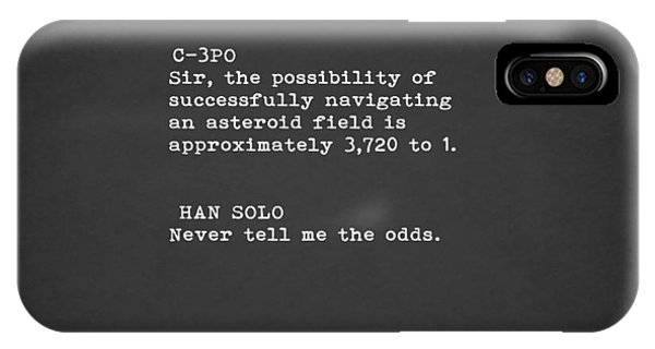 Harrison iPhone Case - Never Tell Me The Odds by Mark Rogan