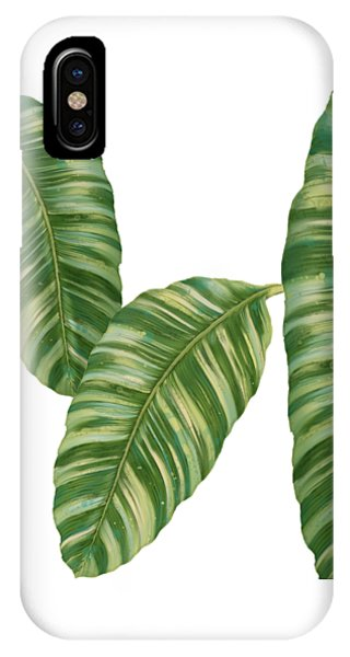 Tropical iPhone Case - Rainforest Resort - Tropical Banana Leaf  by Audrey Jeanne Roberts