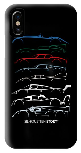 24 Hours Race Cars Silhouettehistory IPhone Case