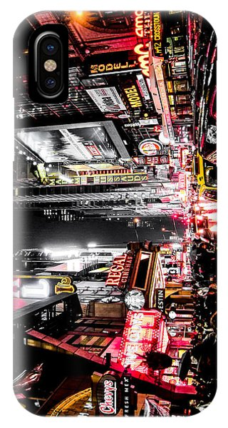 Street Sign iPhone Case - New York City Night II by Nicklas Gustafsson