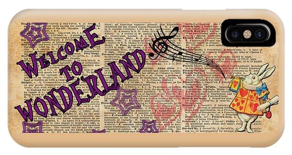 Rabbit Welcome To .. Alice In Wonderland IPhone Case