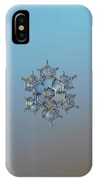 Snowflake Photo - Flying Castle IPhone Case