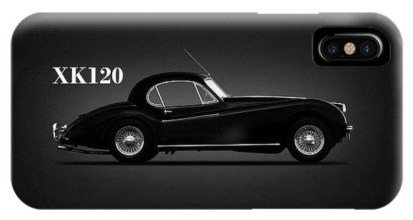 Coupe iPhone Case - Jaguar Xk120 Coupe by Mark Rogan