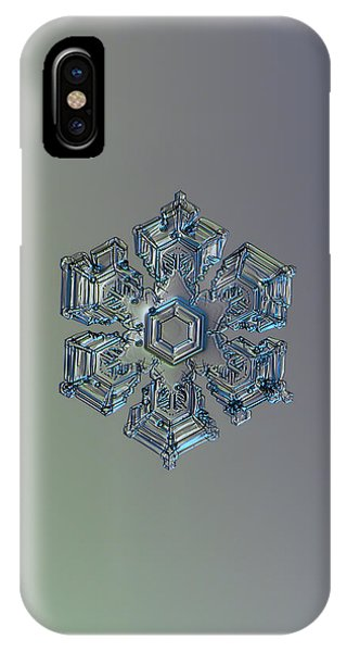 Snowflake Photo - Silver Foil IPhone Case