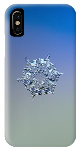 Snowflake Photo - Ice Relief IPhone Case