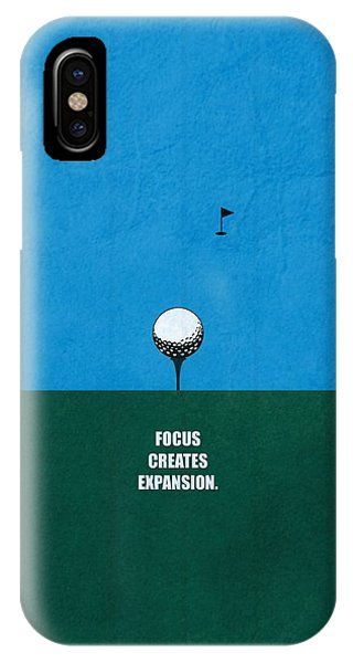 Work iPhone Case - Focus Creates Expansion Corporate Start-up Quotes Poster by Lab No 4