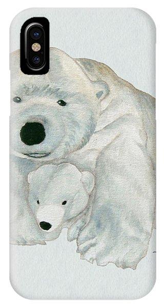 Cuddly Polar Bear Watercolor IPhone Case
