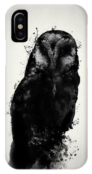 Dark iPhone Case - The Owl by Nicklas Gustafsson