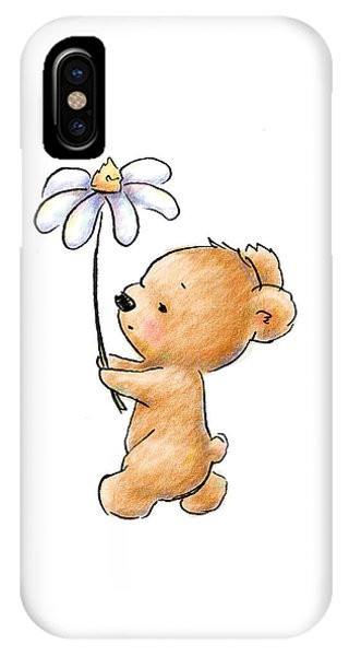 Baby Bear With Flower IPhone Case