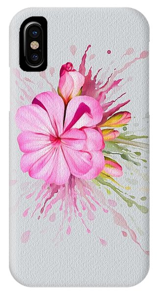 IPhone Case featuring the painting Pink Eruption by Ivana Westin