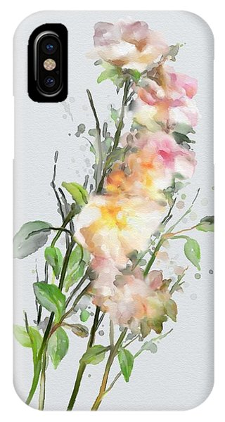 IPhone Case featuring the painting Wild Roses by Ivana Westin
