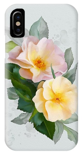 Two Wild Roses IPhone Case