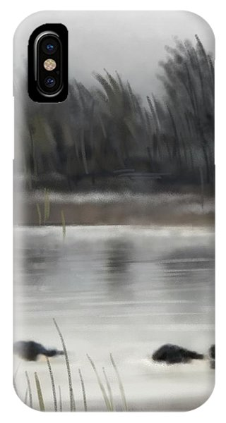 IPhone Case featuring the painting Too Early Out by Ivana