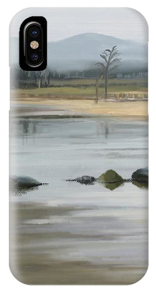 IPhone Case featuring the painting Foggy Day by Ivana