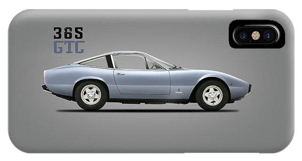 1972 iPhone Case - Ferrari 365 Gtc-4 by Mark Rogan