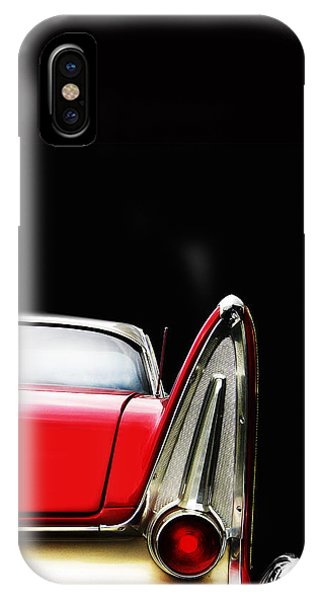 Fury iPhone Case - Plymouth Fury Fin Detail by Mark Rogan
