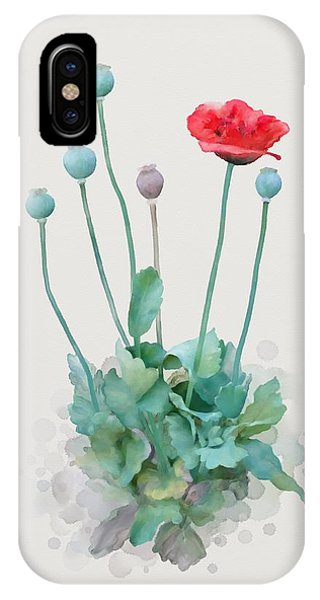 IPhone Case featuring the painting Poppy by Ivana Westin