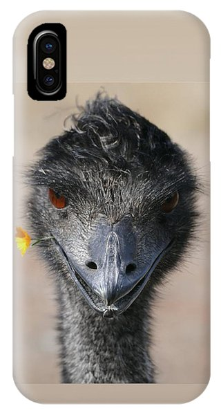 IPhone Case featuring the photograph Happy Emu by Ivana Westin