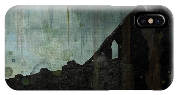 IPhone Case featuring the painting Celtic Ruins by Ivana Westin