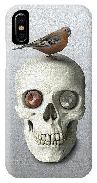 Skull And Bird IPhone Case