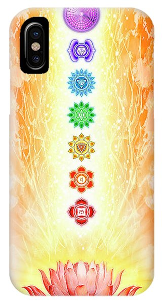 Sacred iPhone Case - Sacred Lotus - The Seven Chakras by Dirk Czarnota