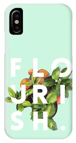 Flowers iPhone X / XS Case - Flourish by Uma Gokhale
