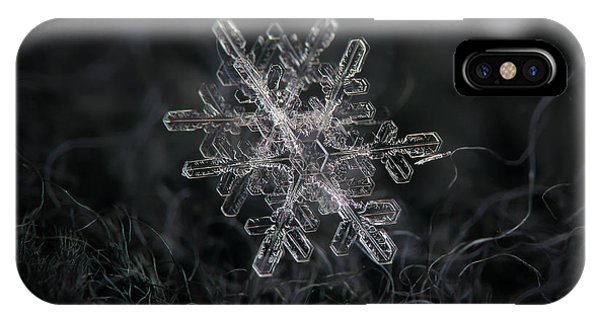 Snowflake Photo - January 18 2013 Grey Colors IPhone Case