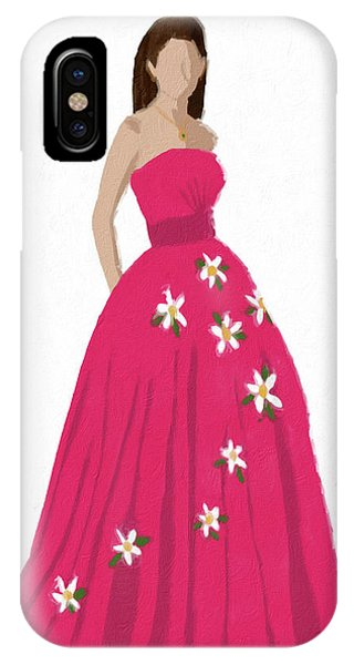 IPhone Case featuring the digital art Justine by Nancy Levan