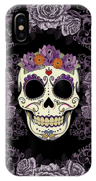Vintage Sugar Skull And Roses IPhone Case