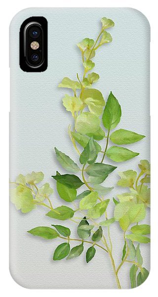 IPhone Case featuring the painting Yellow Tiny Flowers by Ivana Westin