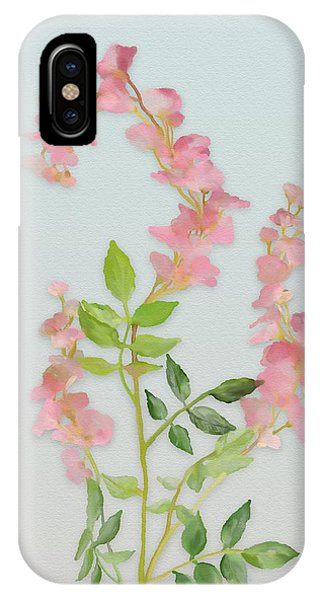 IPhone Case featuring the painting Pink Tiny Flowers by Ivana Westin