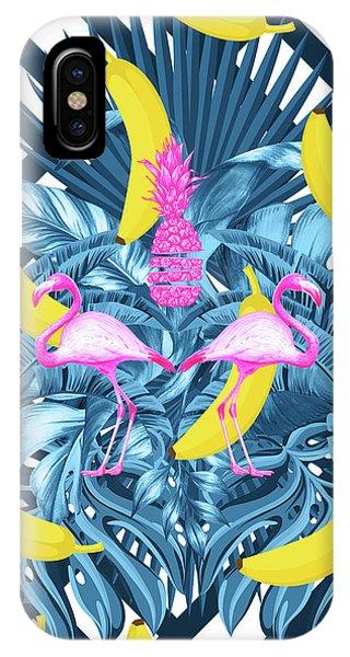 Tropical Banana Pink   IPhone Case