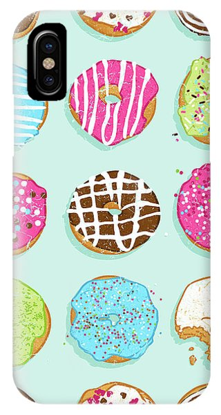 Good Humor iPhone Case - Sweet Donuts by Evgenia Chuvardina