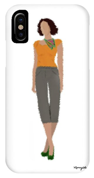 IPhone Case featuring the digital art Susan by Nancy Levan