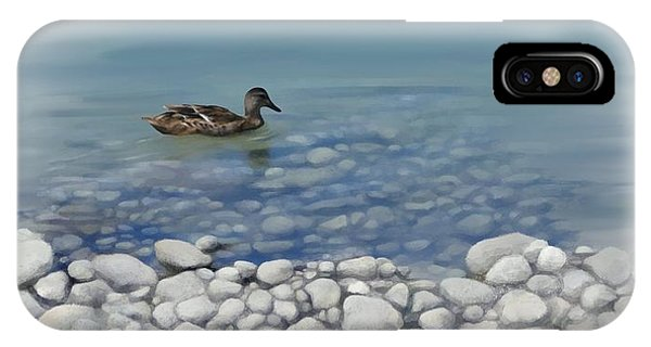 IPhone Case featuring the painting Clear Water  by Ivana Westin