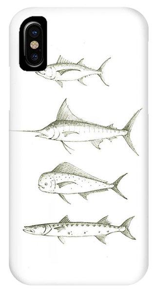 Swordfish iPhone Case - Saltwater Gamefishes by Juan Bosco