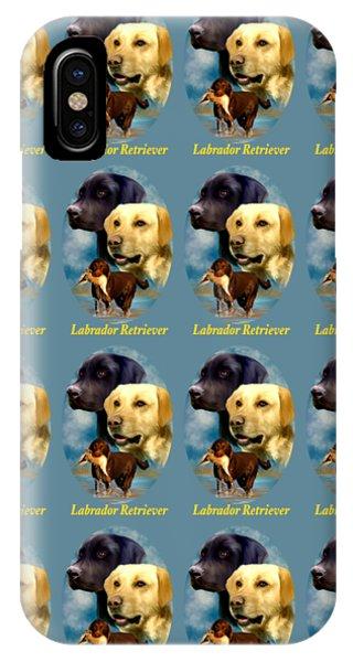 Labrador Retriever With Name Logo IPhone Case