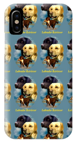 Labrador Retriever With Name Logo IPhone Case
