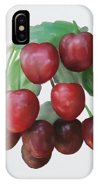 IPhone Case featuring the painting Sour Cherry by Ivana Westin
