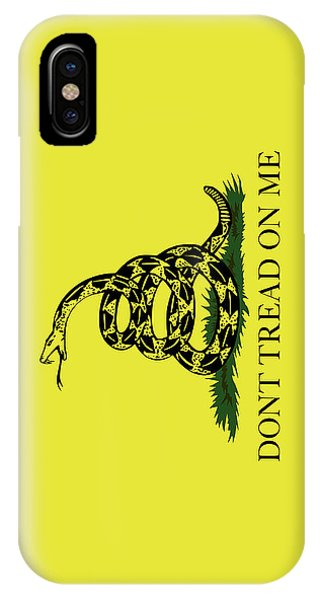 Fork iPhone Case - Gadsden Dont Tread On Me Flag Authentic Version by Bruce Stanfield