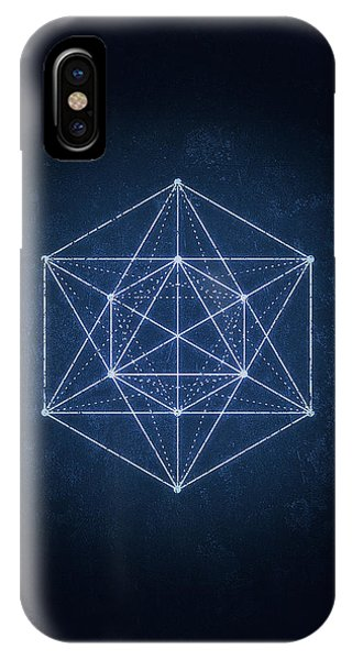 Illusion iPhone Case - Sacred Geometry  Minimal Hipster Symbol Art by Philipp Rietz