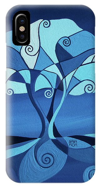 Enveloped In Blue IPhone Case