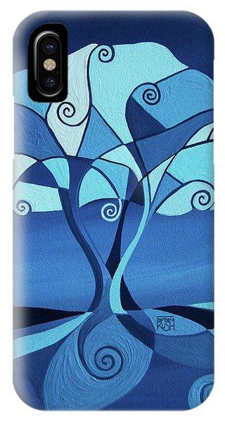 Enveloped In Blue IPhone Case