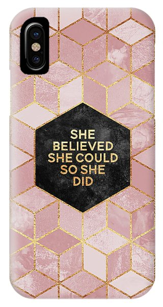 Professional iPhone Case - She Believed She Could by Elisabeth Fredriksson