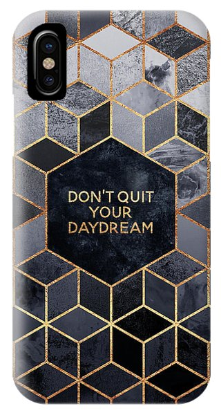 Geometric iPhone Case - Don't Quit Your Daydream by Elisabeth Fredriksson