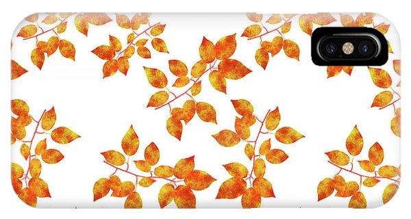 Black Cherry Pressed Leaf Art IPhone Case